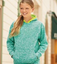 J America 8610 Youth Cosmic Fleece Hooded Pullover Sweatshirt