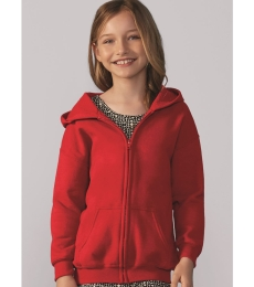 G186B Gildan Youth 7.75 oz. Heavy Blend™ 50/50 Full-Zip Hood