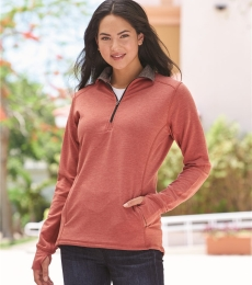 197 8433 Omega Stretch Terry Women's Quarter-Zip Pullover