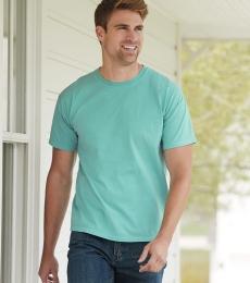 Comfort Wash Hanes GDH100 Men's 5.5 oz 100% Ring Spun Cotton Garment Dyed Short Sleeve T-Shirt