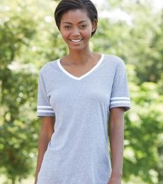 Jerzees 602WVR Triblend Women's V-Neck Varsity T-Shirt