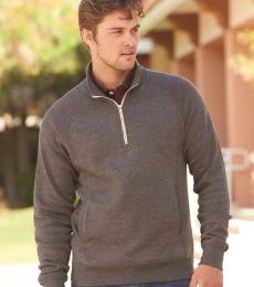 J America 8869 Triblend 1/4 Zip Pullover Sweatshirt