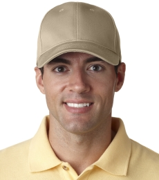 8101 UltraClub® Classic Cut Chino Cotton Twill Constructed Cap
