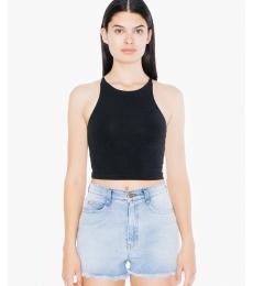 American Apparel 8369W Ladies' Cotton Spandex Sleeveless Crop Top