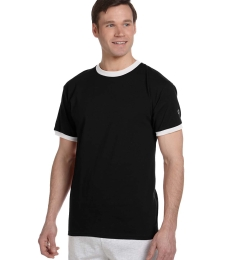 T1396 Champion Logo Cotton Ringer Tee