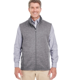 DG797 Devon & Jones Men's Newbury Mélange Fleece Vest