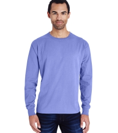 Comfort Wash Hanes GDH200 Men's 5.5 oz  100% Ring Spun Cotton Garment Dyed Long Sleeve T-Shirt