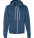 F497 American Apparel Flex Fleece Zip Hoody SEA BLUE